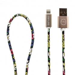کابل تبدیل USB به لایتنینگ مدل Graffiti AP 08 به طول 1 متر