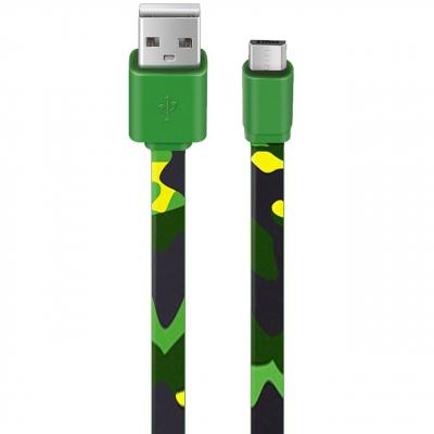 کابل تبدیل USB به microUSB مدل Army Printing به طول 1 متر