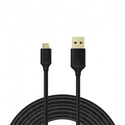 کابل تبدیل USB به micro USB الدینیو مدل Nylon Woven به طول 2 متر
