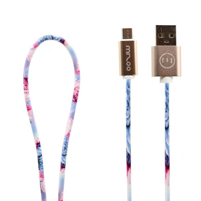 کابل تبدیل USB به microUSB مدل Graffiti AN 16 به طول 1 متر