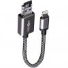 کابل تبدیل USB به لایتنینگ انرجیا مدل Alumemo 2 In 1 Charging And Storage طول 0.17 متر همراه کارت حا