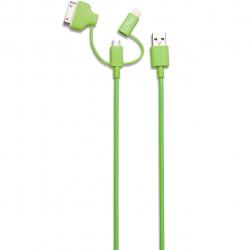 کابل تبدیل USB به لایتنینگ/30 پین/microUSB آدام المنتس مدل Multi-Plug 90 به طول 0.9 متر