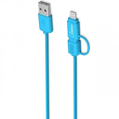 کابل تبدیل USB به لایتنینگ و microUSB آدام المنتس مدل Flip Duo 120F به طول 1.2 متر