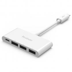 مبدل USB-C به USB/USB-C یوبائو مدل YB-H1C3A/C