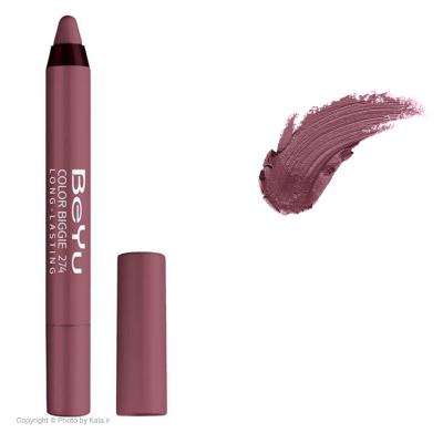 رژ لب مدادی 2 کاره بی یو مدل Color Biggie for Lip and More شماره 274 (زرشکی)