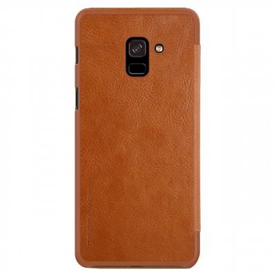 کیف کلاسوری نیلکین مدل Qin مناسب برای گوشی موبایل سامسونگ Galaxy A8 Plus 2018 (قهوه ای)