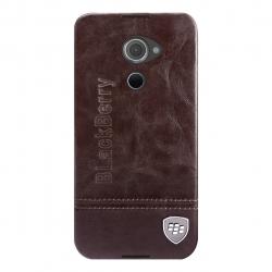 کاور بلک بری مدل چرمی مناسب برای گوشی موبایل بلک بری DTEK60 (قهوه ای تیره)