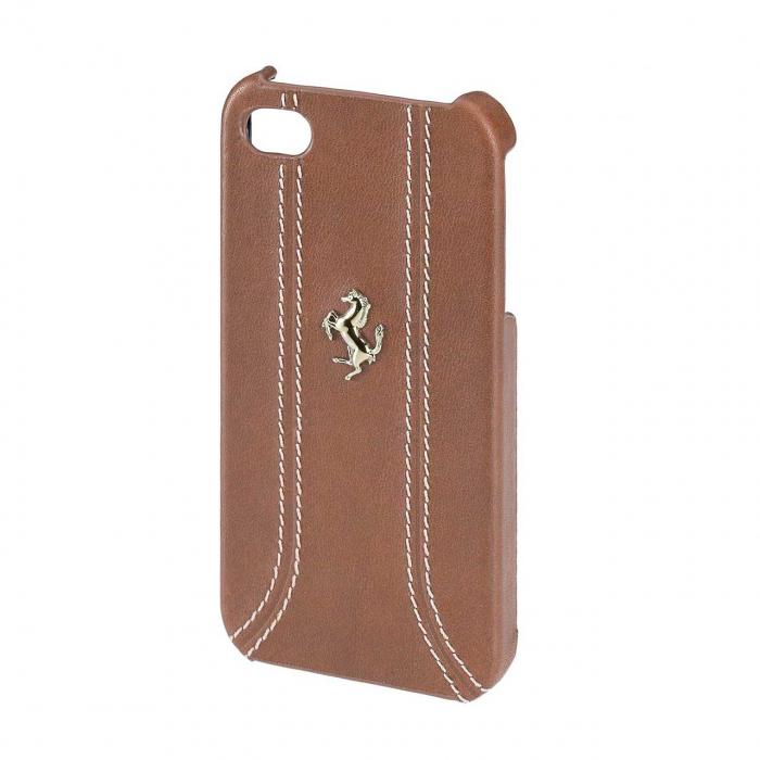 کاور فراری Leather Back Cover مناسب برای گوشی اپل آیفون 5/5s / SE