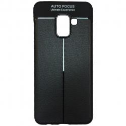 کاور ژله ای طرح چرم مناسب برای گوشی موبایل سامسونگ Galaxy A8 Plus 2018