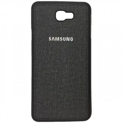 کاور ژله ای طرح پارچه مناسب برای گوشی موبایل سامسونگ Galaxy J7 Prime (مشکی)