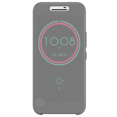 کیف کلاسوری مدل Dot View Ice مناسب برای گوشی موبایل اچ تی سی One M10 (کرم)