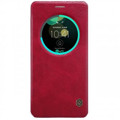 کیف کلاسوری چرمی نیلکین مدل Qin مناسب برای گوشی موبایل ایسوس Zenfone 3 Deluxe/ZS570KL (زرشکی)