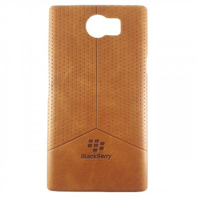 کاور طرح چرم مناسب برای گوشی موبایل بلک بری Priv (قهوه ای روشن)