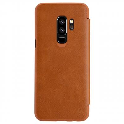 کیف کلاسوری نیلکین مدل Qin مناسب برای گوشی موبایل سامسونگ Galaxy S9 Plus (قهوه ای)