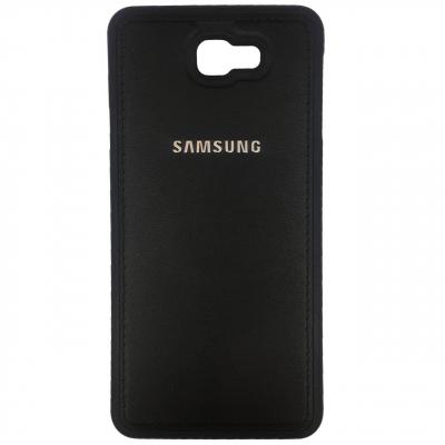 کاور ژله ای طرح چرم مدل مناسب برای گوشی موبایل سامسونگ Galaxy J7 Prime (طلایی)