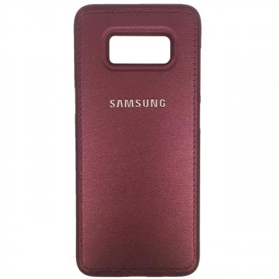 کاور ژله ای طرح چرم مناسب برای گوشی موبایل سامسونگ Galaxy S8 (طلایی)