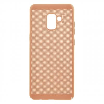 کاور مدل هاردمش مناسب برای گوشی موبایل سامسونگ Galaxy A8 Plus 2018 (طلایی)