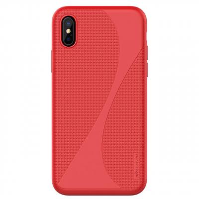 کاور نیلکین مدل Flex Liquid Silicone مناسب برای گوشی موبایل اپل آیفون X (قرمز)