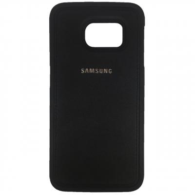 کاور ژله ای طرح چرم مناسب برای گوشی موبایل سامسونگ Galaxy S6 Edge (طلایی)