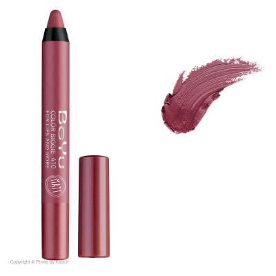 رژ لب مدادی 2 کاره بی یو مدل Color Biggie for Lip and More 410 (سرخابی)