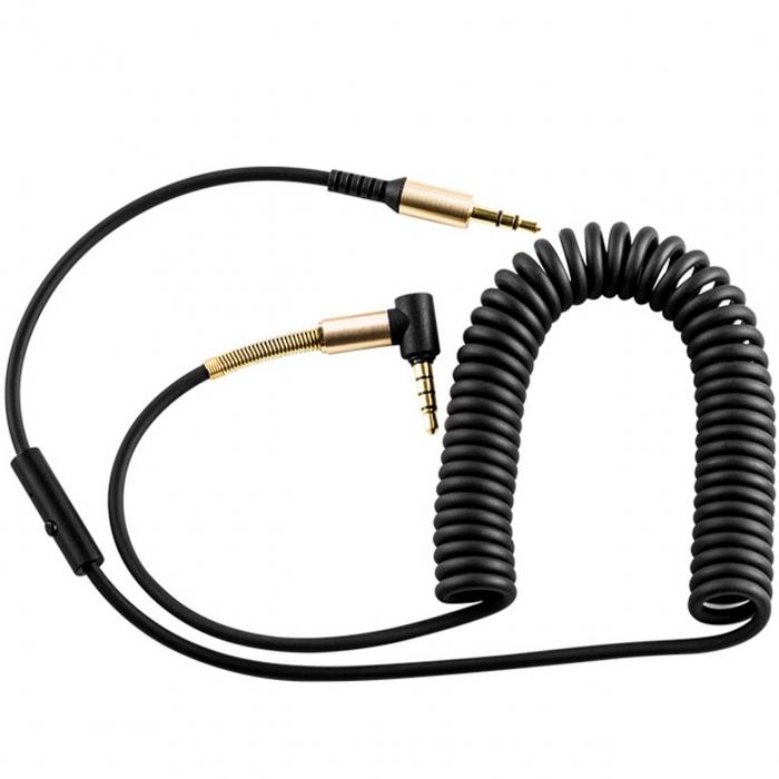 کابل انتقال صدای 3.5 میلی متری کنترل دار هوکو مدل UPA02 AUX به طول 2 متر