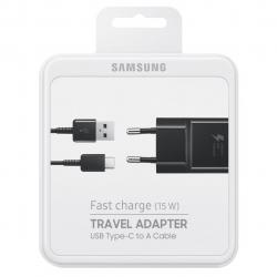 شارژر دیواری سامسونگ مدل EP-TA20EBE همراه با کابل USB C (مشکی)