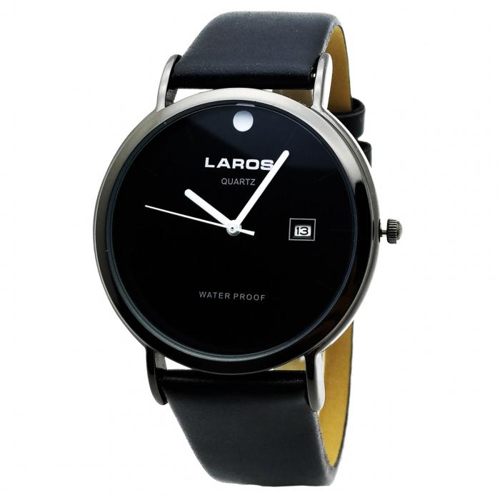 ساعت مچی عقربه ای مردانه لاروس مدل LM-N590-Black