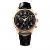 ساعت مچی عقربه ای ویلیام اِل 1985 مدل Vintage Style Calendar Gold Black