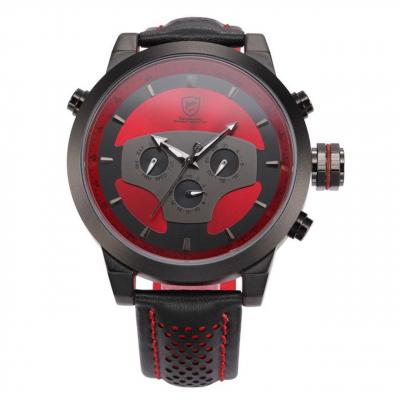 ساعت مچی عقربه ای مردانه شارک اسپورت مدل SH207 (مشکی - قرمز)
