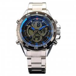 ساعت مچی عقربه ای مردانه شارک اسپرت مدل SH058 (مشکی - نقره ای)
