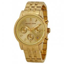 ساعت مچی عقربه ای زنانه مایکل کورس مدل MK5676 (طلایی)