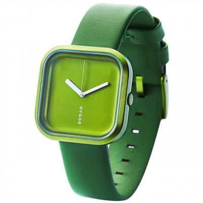 ساعت مچی عقربه ای زنانه هیگه مدل سبز جنگلی