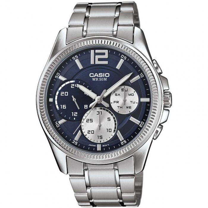 ساعت مچی عقربه ای مردانه کاسیو مدل MTP-E305D-2AVDF