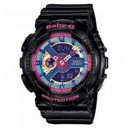 ساعت مچی عقربه ای زنانه کاسیو مدل BA-112-1ADR (مشکی)