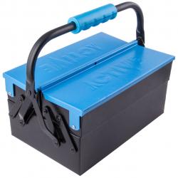 جعبه ابزار فلزی اکتیو مدل AC6302MT (مشکی - آبی)
